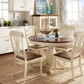 TRIBECCA HOME Mackenzie 5-piece Country Antique White Dining Set