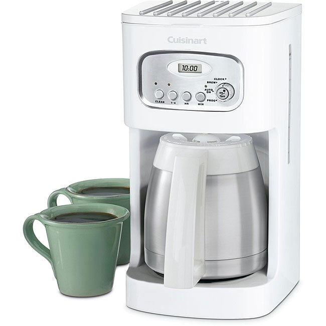 Cuisinart DCC-1150 10-cup White Programmable Thermal Coffeemaker