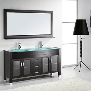 Virtu USA Ava 63-inch Double Sink Bathroom Vanity Set