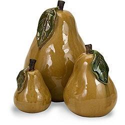 Set of 3 Ceramic 'Summer's Bounty' Pears