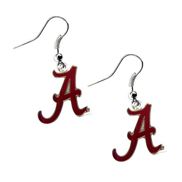 Alabama Crimson Tide Dangle Logo Earrings