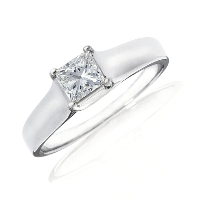 14k Gold 1/2ct TDW IGL Certified Diamond Solitaire Engagement Ring (H-I, I1)