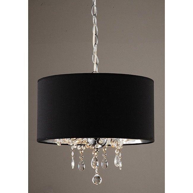 Indoor 3-light Black/ Chrome Pendant Chandelier