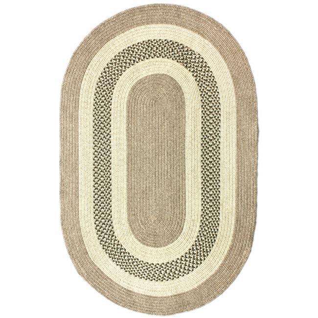 nuLOOM Handmade Reversible Braided Green Villa Rug (5' x 8' Oval)