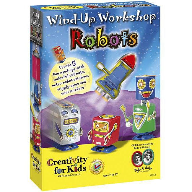 Wind-up Workshop Multicolor Robots Kids' Activity Crafting Kit