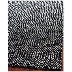 Safavieh Handmade South Hampton Southwest Black Rug (8' x 11')