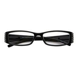 Black Rhinestone Computer Reading Glasses