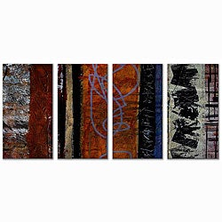 Ruth Palmer 'Eclectic' 4-piece Metal Wall Art Set
