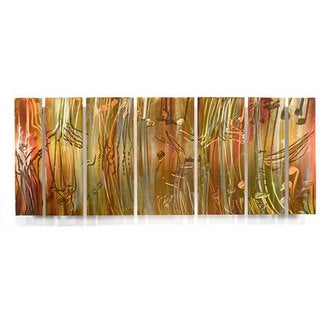 Ash Carl 'Life' 7-panel Abstract Metal Wall Art