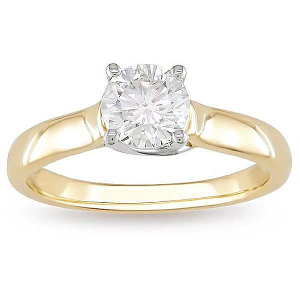 Miadora 14k Gold 1ct TDW Certified Diamond Solitaire Ring (G-H, I1-I2)