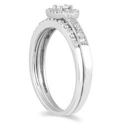 10k White Gold 1/3ct TDW Princess Diamond Bridal Ring Set (I-J, I1-I2)