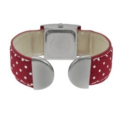 Geneva Platinum Women's Polka-dot Bangle Watch