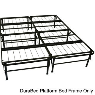 DuraBed Queen-size Heavy Duty Steel Foundation & Frame-in-One Mattress Support System Platform Bed Frame