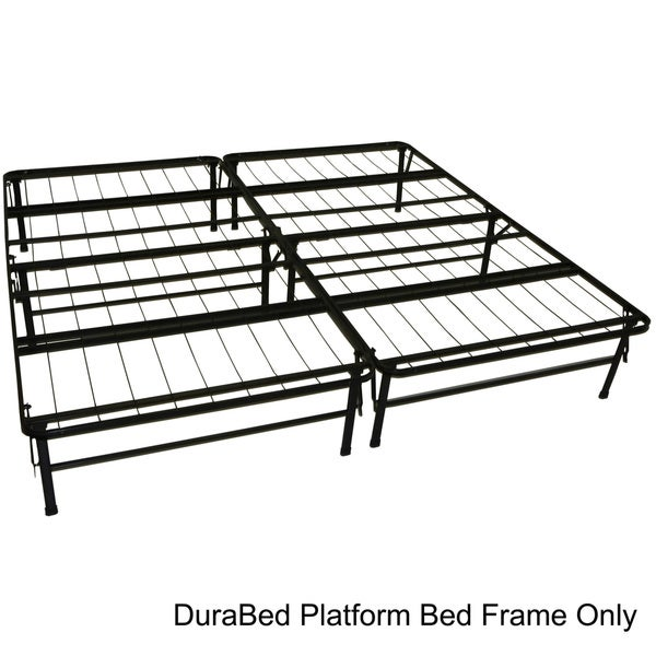 DuraBed King-size Heavy Duty Steel Foundation & Frame-in-One Mattress Support System Platform Bed Frame