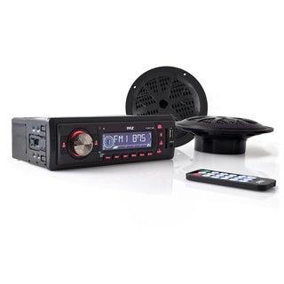 Pyle PLMRKT12BK Marine Flash Audio Player - iPod/iPhone Compatible -
