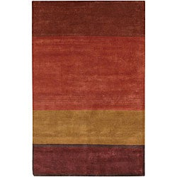 Hand-knotted Mandara Multicolor Wool Rug (7'9 x 10'6)