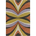 Hand-Tufted Plush Mandara Wool Rug (7'9 x 10'6)