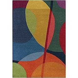 Hand-tufted Erima Multicolor Wool Rug (5'x7'6)