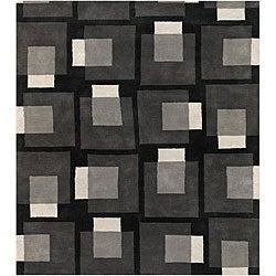 """Jumbo Hand-Tufted Mandara Gray Wool Rug (7'9"""" x 10'6"""")"""