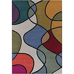 "Hand-Tufted Mandara Multicolor Wool Area Rug (7'9"" x 10'6"")"