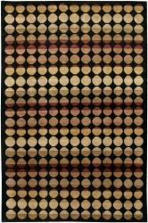 Hand-knotted Mandara Brown Geometric Wool Rug (5' x 7'6)