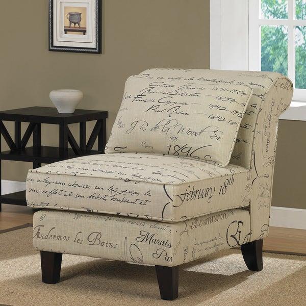 Signature Tan Linen Slipper Chair