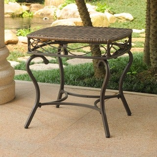 International Caravan Valencia Resin Wicker/ Steel Frame Outdoor Side Table