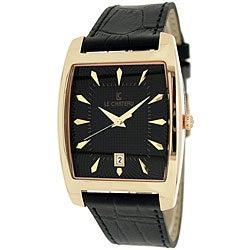 Le Chateau Men's '7074M' Classica Collection Water-resistant Textured-dial Quartz Watch