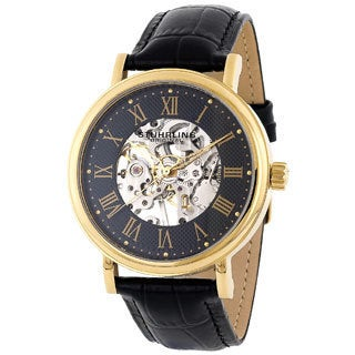 Stuhrling Original Men's 'Montague' Mechanical Skeleton Watch