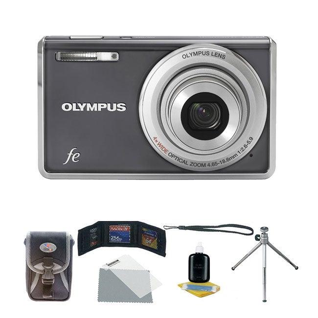 Olympus FE-4010 12MP Digital Camera with Deluxe Bonus Kit (Refurbished)