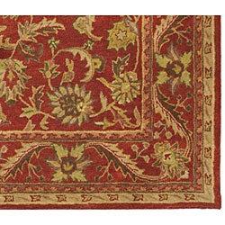 Safavieh Handmade Heirloom Red Wool Rug (6' x 9')