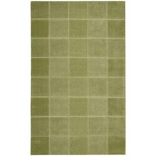Nourison Westport Hand-tufted Green Wool Rug (3'6 x 5'6)