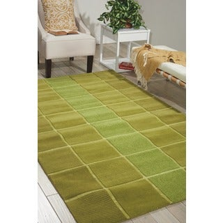 Nourison Westport Hand-tufted Green Wool Rug (5' x 8')