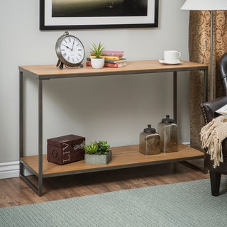 Elements Light Brown/Grey Sofa Table with Shelf