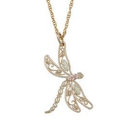 Black Hills Gold Dragonfly Necklace