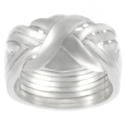 Journee Collection Sterling Silver 8-piece Puzzle Ring