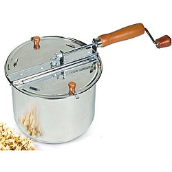 Cook N Home Stainless Steel 6.5-qt Stovetop Popcorn Popper