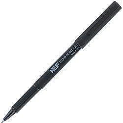 Eberhard Faber Hard Point Plastic Tip Black Pen (Pack of 12)