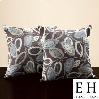 ETHAN HOME Leaves 18-inch Throw Pillows (Set of 2)