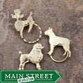 SPEC Pin Gold-plated Dog Glasses Holder (Set of 3)