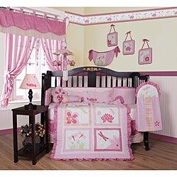 Pink Dragonfly 13-piece Crib Bedding Set