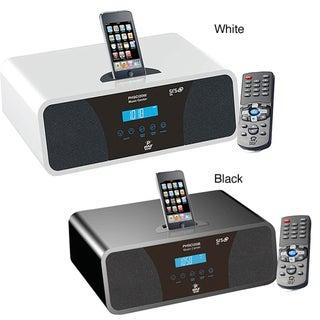 Pyle High-Performance White AM/FM Clock Radio with iPod/ iPhone Dock
