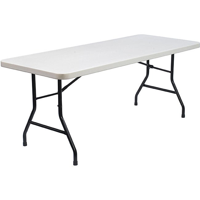 Nps commercialine 6 foot plastic top folding table for Table 6 feet