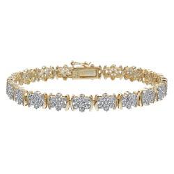 PalmBeach 18k Gold and Silver 1/4ct TDW Diamond Bracelet (I-J, I3)