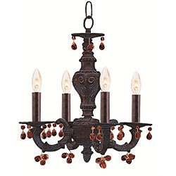 Sutton 4-light Ventian Bronze Mini Chandelier