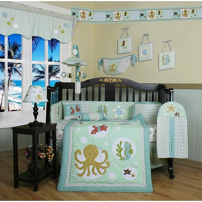 Sea Animals 13-piece Crib Bedding Set