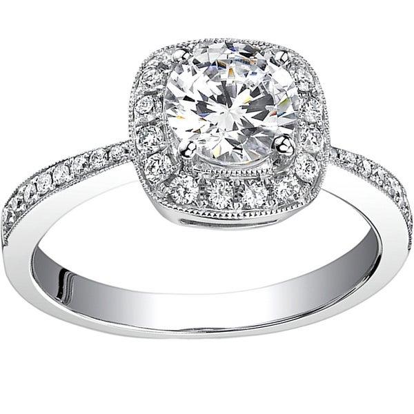 18k White Gold 3/4ct TDW Diamond Engagement Ring (H, SI1-SI2)