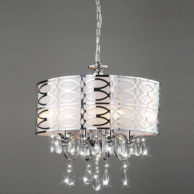 Indoor 4-light Chrome/ Crystal Chandelier