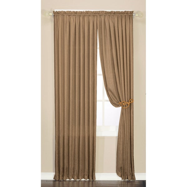 Luster Crushed Faux Silk 95-inch Window Panel Pair