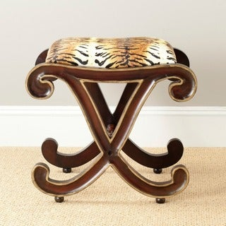 Safavieh Hand-carved Roxie Zebra Stool